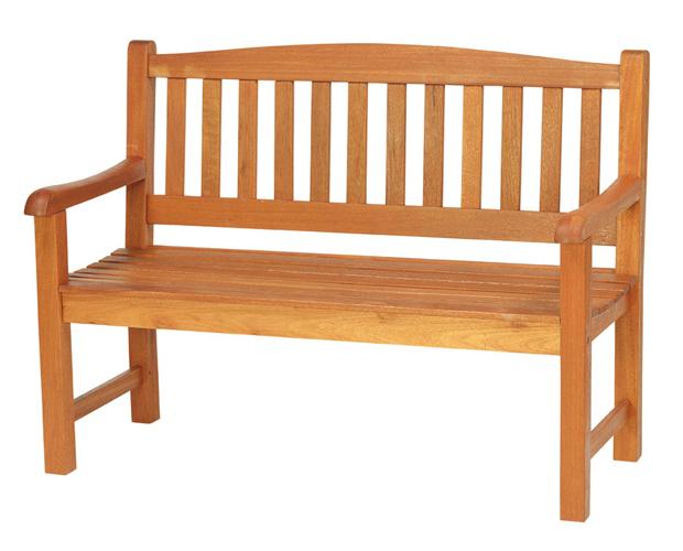シンプルなデザインの2人掛けベンチ(B-1)