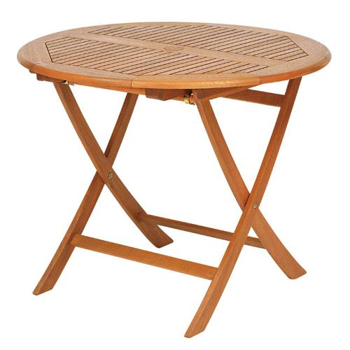 折りたたみ式丸型テーブル・パラソルホール付き(T-2)