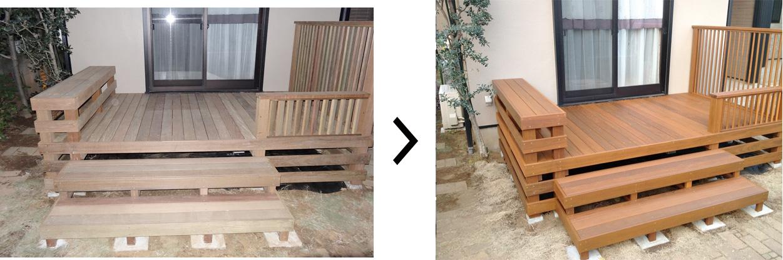 塗装次第で木材は長持ちします